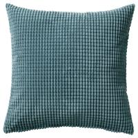 ГУЛЛЬКЛОКА Чехол на подушку, сине-серый