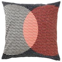 ВОРЛЭК Чехол на подушку, оранжевый, черный