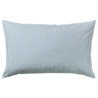 РЕМВАЛЛЕН Чехол на подушку, синий, белый