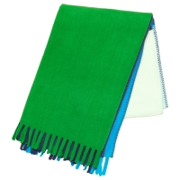 МАДЖЕ Плед, зеленый/синий
