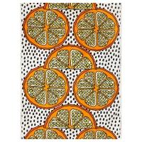 ОРАНГЕЛИЛЬЯ Ткань, оранжевый, белый/черный