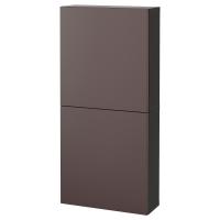 БЕСТО Навесной шкаф с 2 дверями, черно-коричневый, Вальвикен темно-коричневый