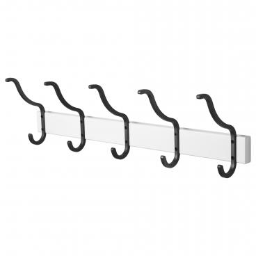 ХЭЛМАРЕН вешалка для полотенец с 5 крючками белая