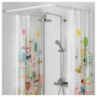 ВИКАРН Штанга для шторы в ванную, белый