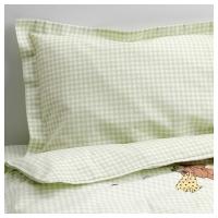 НАНИГ Комплект постельного белья, 3 предм, зеленый