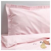 НАНИГ Комплект постельного белья, 3 предм, розовый