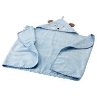БАДЕТ Полотенце с капюшоном, голубой