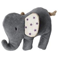 ШАРМТРОЛЛ Мягкая игрушка, слон, серый бежевый
