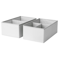 СЛЭКТИНГ Ящик с отделениями, серый, бирюзовый