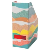 ХЕЙСАН Подставка для журналов, оранжевый, разноцветный