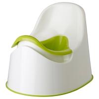 ЛОККИГ Горшок, белый зеленый, зеленый