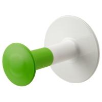 ЛОСШЁН Держатель туалетной бумаги, бел/зелен