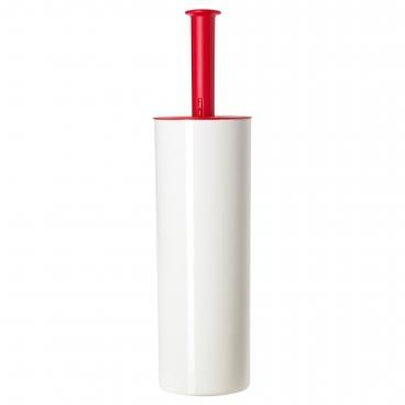 ЛОСШЁН щетка для унитаза белый / красный