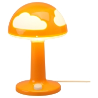 СКОЙГ Лампа настольная, оранжевый
