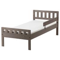 МЮГГА Каркас кровати с реечным дном, серо-коричневый