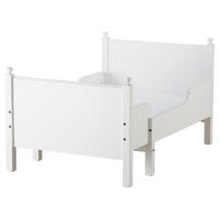 ЛЕКСВИК Раздвижная кровать, белый