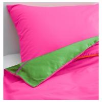 СТИККАТ Пододеяльник и 1 наволочка, розовый, зеленый