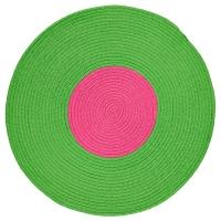 СТИККАТ Ковер, плетеный, зеленый, розовый