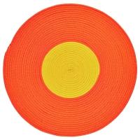 СТИККАТ Ковер, плетеный, оранжевый, желтый