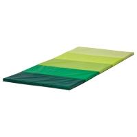 ПЛУФСИГ Складной гимнастический коврик, зеленый