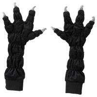 ЛАТТО Перчатки-лапы, 1 пара, черный
