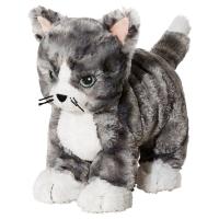 ЛИЛЛЕПЛУТТ Мягкая игрушка, кот серый, белый