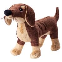СМОСЛУГ Мягкая игрушка, собака, коричневый