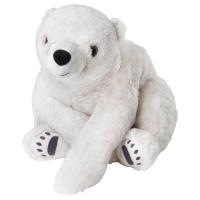 СНУТТИГ Мягкая игрушка, белый медведь, белый