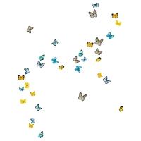 СЛЭТГУЛЬТ Декоративные наклейки, бабочки
