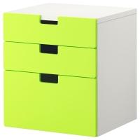 СТУВА Комод с 3 ящиками, зеленый