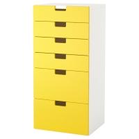 СТУВА Комбинация для хранения с ящиками, белый, белый