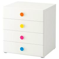 СТУВА/ФОЛЬЯ Комбинация для хранения с ящиками, белый
