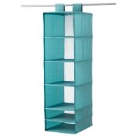 СКУББ Модуль для хранения с 6 отделениями, голубой
