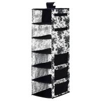 ГАРНИТУР Модуль для хранения/7 отделений, черный, белый цветок