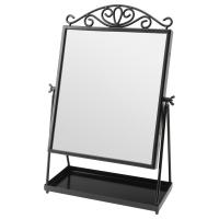 КАРМСУНД Зеркало настольное, черный