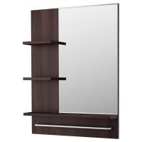 ЛИЛЛОНГЕН Зеркало, черно-коричневый