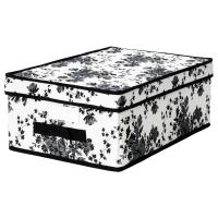 ГАРНИТУР Коробка с крышкой, черный, белый цветок