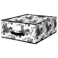 ГАРНИТУР Сумка для хранения, черный, белый цветок