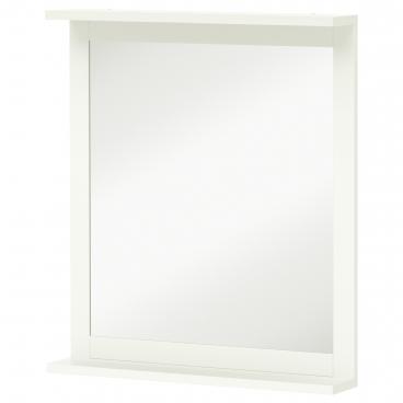 СИЛВЕРОН Зеркало с полкой, белый
