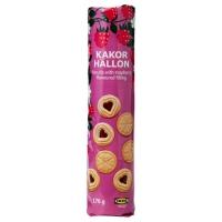 KAKOR HALLON Печенье с малиновым наполнителем