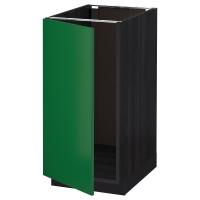 МЕТОД Наполный шкаф д/мойки/мусорн конт, черный, Флэди зеленый