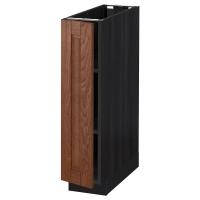 МЕТОД Напольный шкаф с полками, черный, Филипстад коричневый