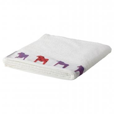 ХОРНЕН Банное полотенце, белый, лошадь разные цвета