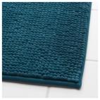 ТОФТБУ Коврик для ванной, зелено-синий