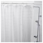 ГРЁНСКА Штора для ванной, белый