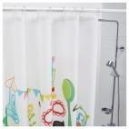 ВАДБЭКК Штора для ванной, разноцветный