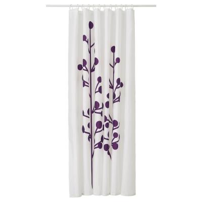 ДРАМСЕЛЬВА штора для ванной темно-сиреневый цветок