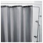 САЛЬТГРУНД Штора для ванной, серый