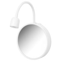 БЛОВИК Светодиодное бра с зеркалом, с батарейным питанием белый