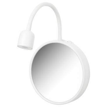 БЛОВИК бра с зеркалом светодиодный с батарейным питанием белый